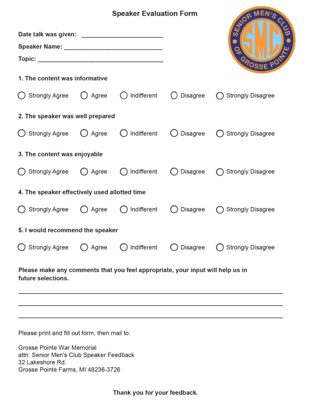 SMC Speaker form page